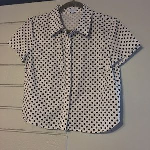 Cute Polka Dot Cropped Cotton Top